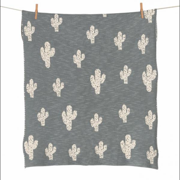 Manta Tricot Tema Cactus