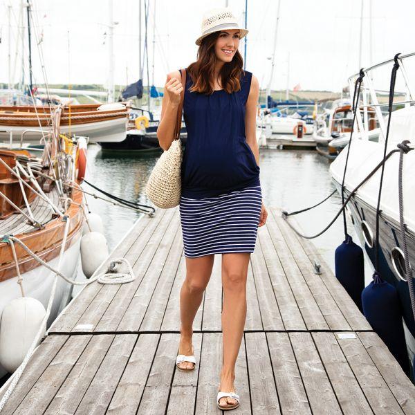 Minifalda Premamá a Rayas Navy