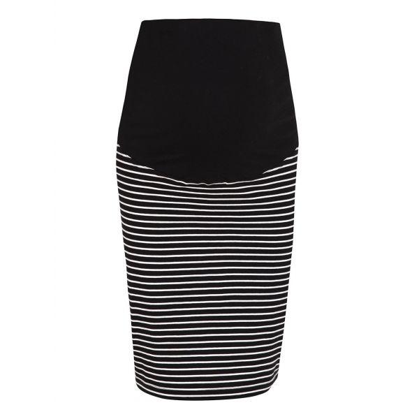 Minifalda Premamá a Rayas negras