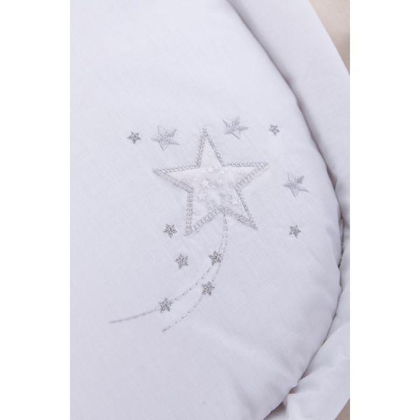 Moisés de Mimbre Blanco Starburst - Clair de Lune