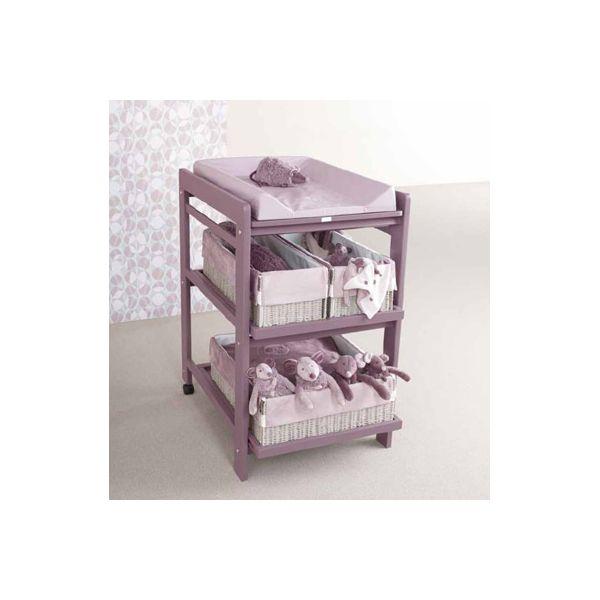 Mueble Cambiador para Bebés Quax Comfort en color Lavanda