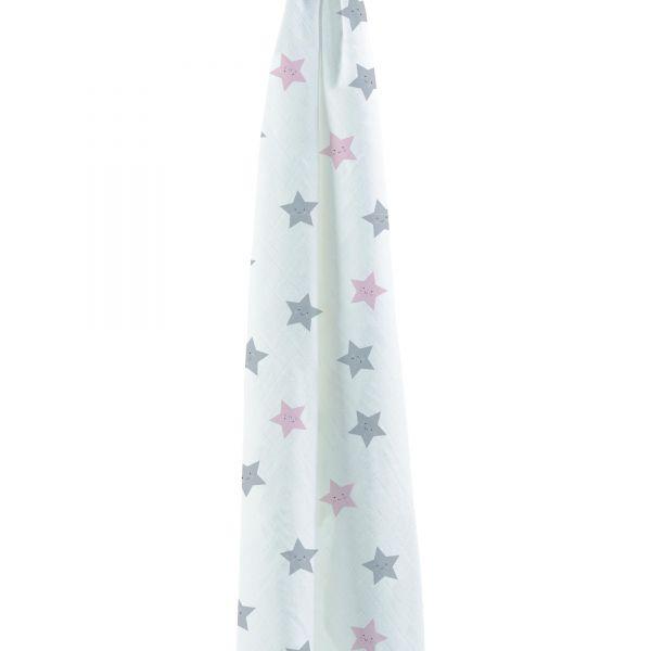 Muselina de Bamboo Estrellas - BonJourBebe