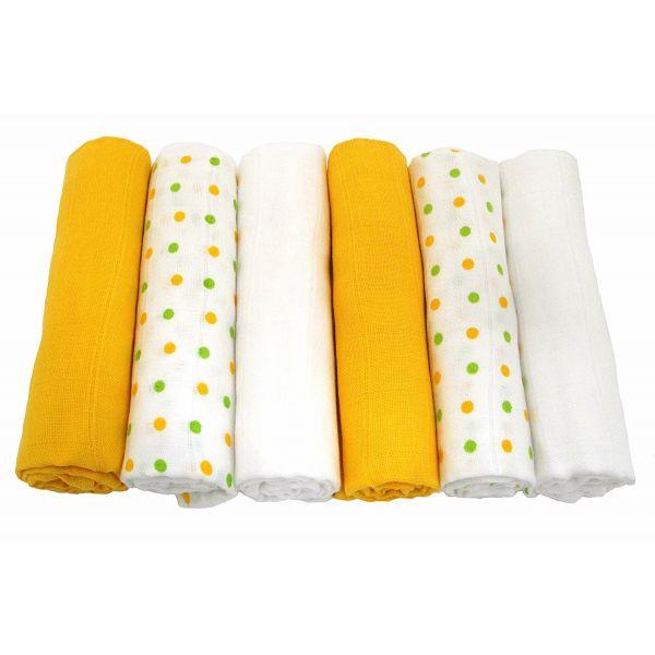 Muselinas de Colores Muslinz - Pack de 6 Unidades