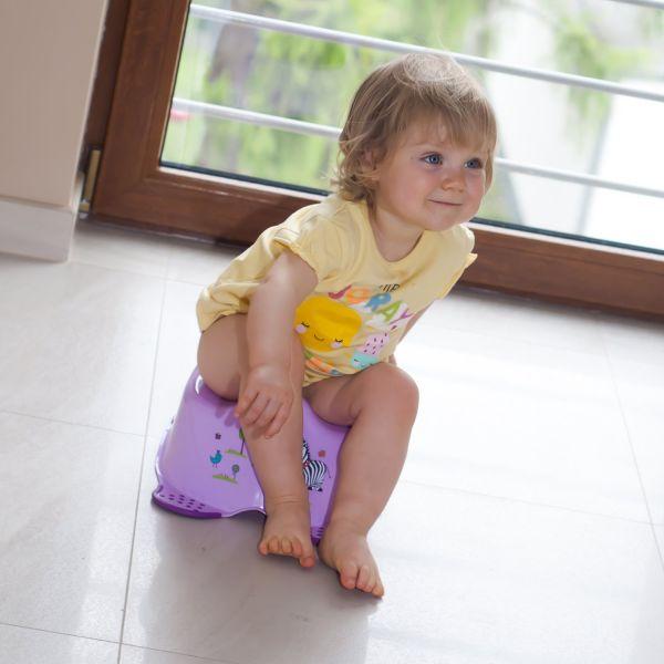 Orinal Infantil con Diseño de Hipopótamo en Color Púrpura