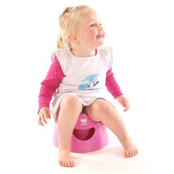 Orinal Infantil Pourty en Color Rosa