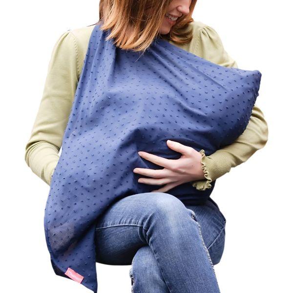 Pañuelo de lactancia Azul de Mamascarf