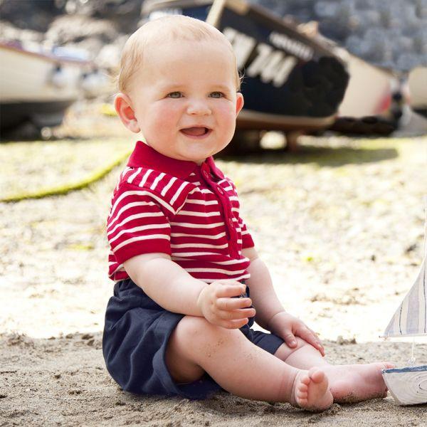 Pantalón Corto para Bebé en Color Azul Marino