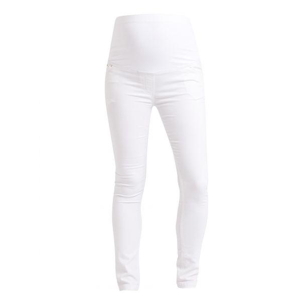 Pantalón Vaquero Premamá Skinny Blanco
