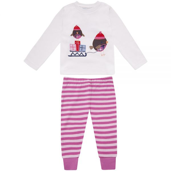 Pijama de Algodón para Niñas Robin Rosa