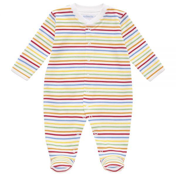 Pijama Bebé Estampado A Rayas Colores
