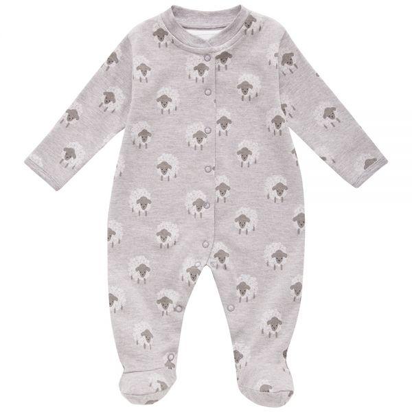 Pijama Bebé Gris Estampado Ovejitas