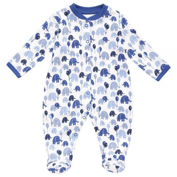 Pijama Bebé Elefantes y Globos Azules