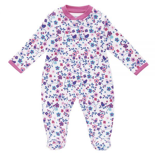 Pijama Bebé Crema Estampado Pajaritos