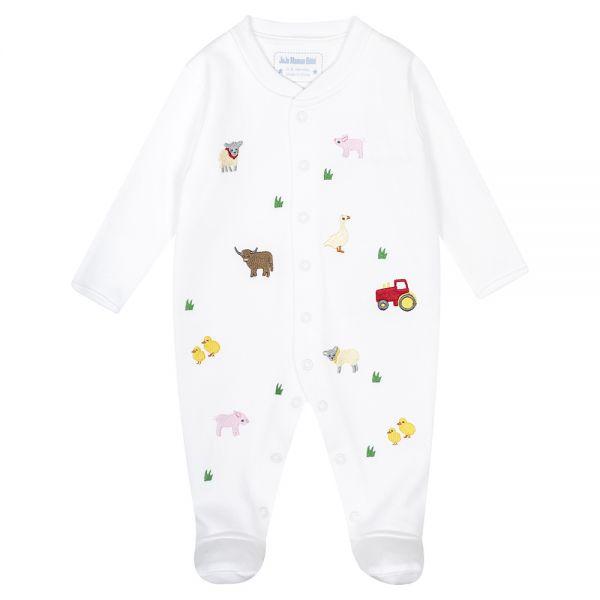 Pijama Bordado para Bebés Estampado Granja