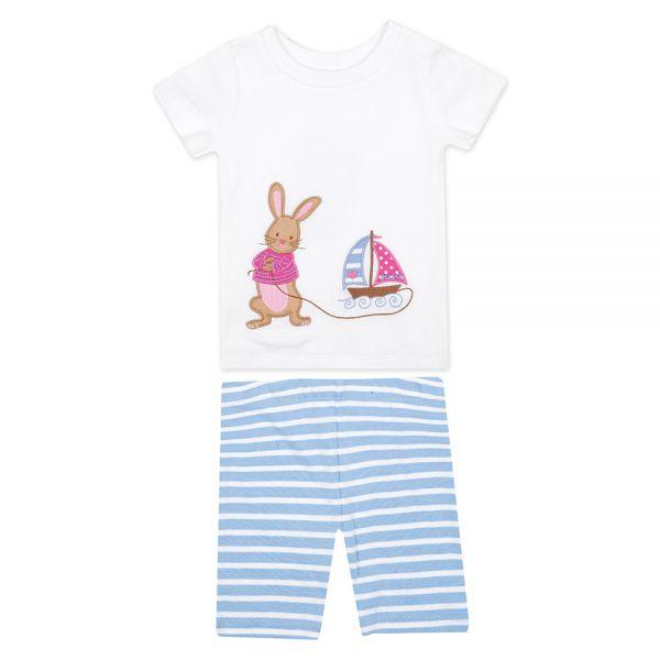 Pijama Corto Ajustado para Niña Conejito