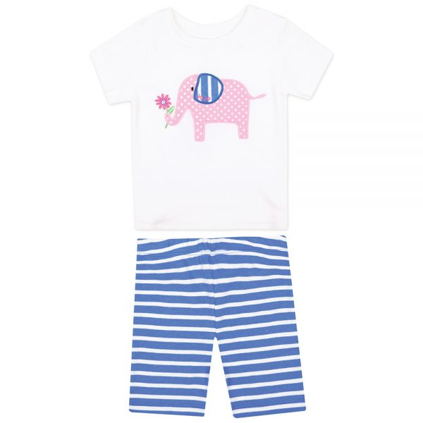 Pijama Corto Ajustado para Niña Elefante