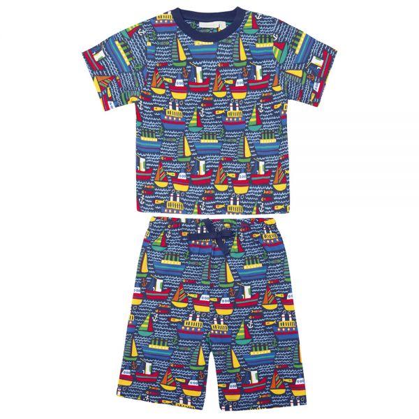 Pijama Corto de Niño Barcos