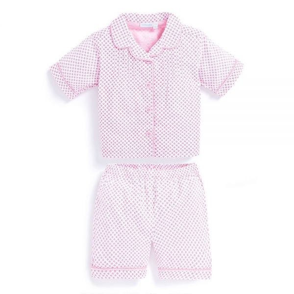Pijama Corto para Niña Clásico Flores Rosas