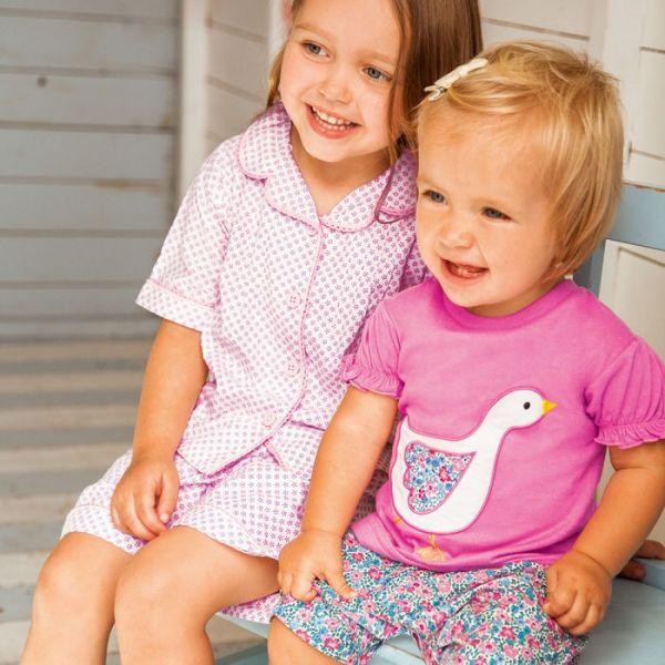 Pijama Corto para Niña Patito