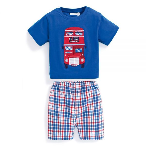 Pijama Corto para Niño Autobús de Londres