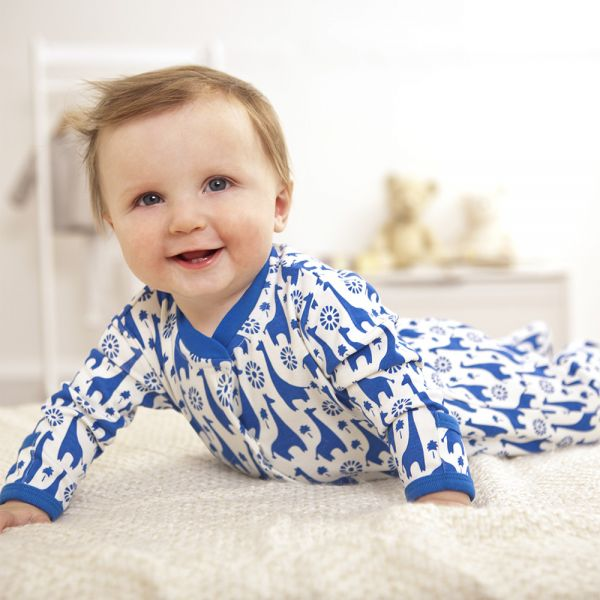 Pijama Bebé Jirafas Azules