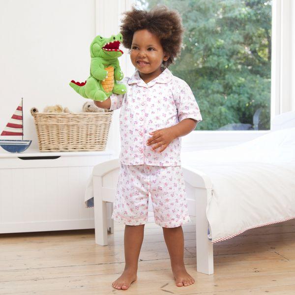 Pijama Corto de Niña estampado Rosas