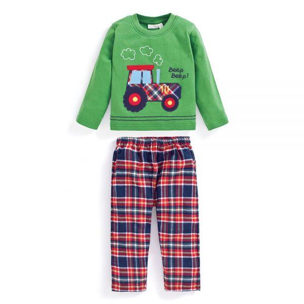 Pijama Invierno para Niños de Tractor