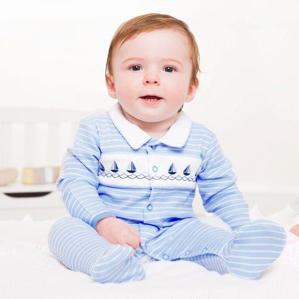 Pijama para Bebé Estampado Barcos