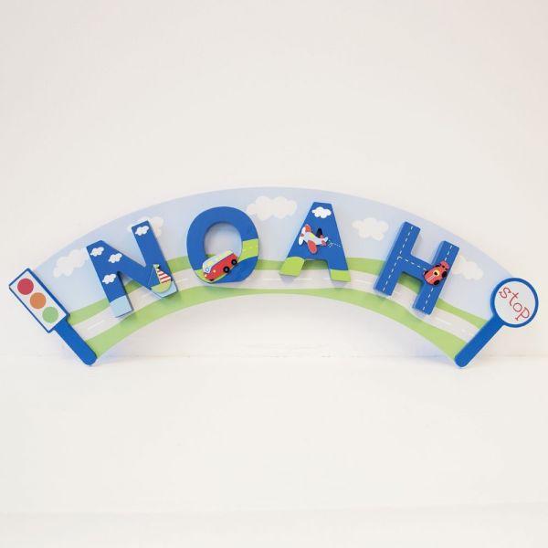 Placa Arco para Colgar Letras Infantiles de Madera