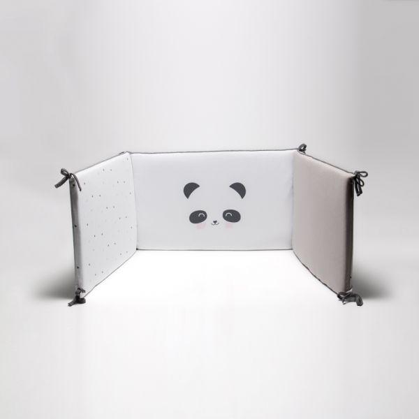Protector de Cuna Panda gris - BonJourBebe