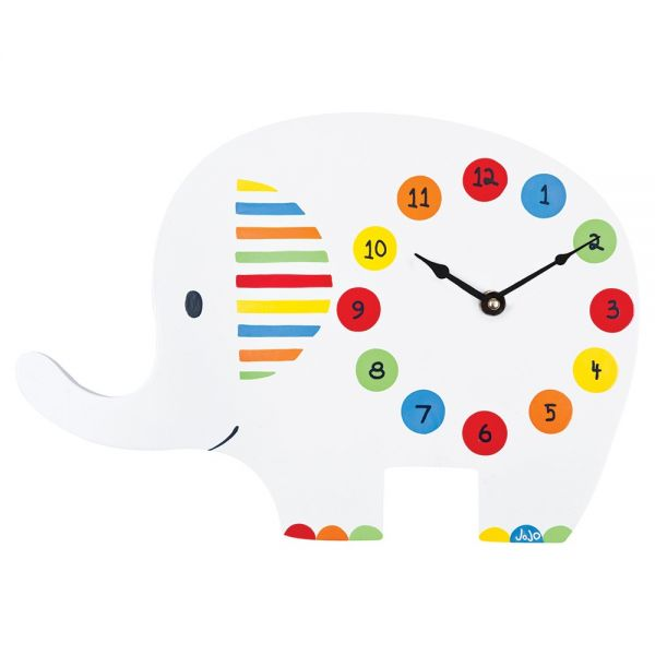 Reloj de Pared Infantil Elefantes Brillantes