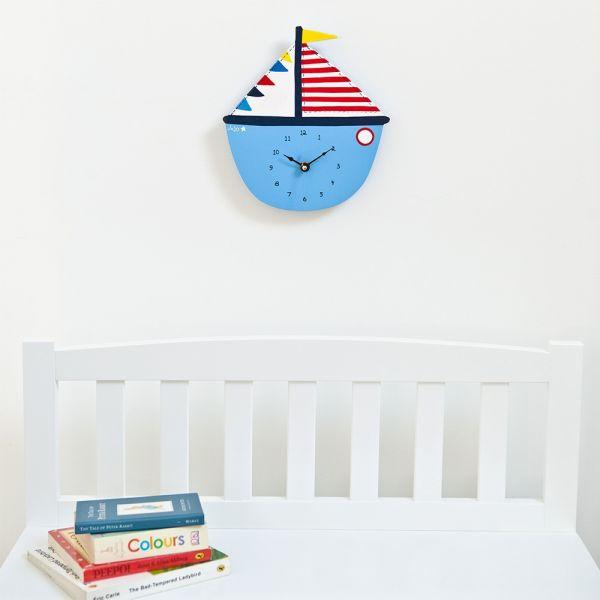 Reloj de Pared para Dormitorio Infantil Velero