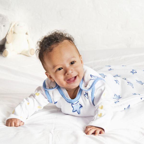 Saco de dormir para Bebé con Estampado Estrellitas Azules de 1 tog