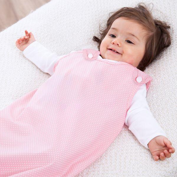Saquito de Bebé Rosa Lunares. 1 Tog