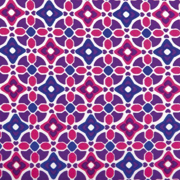 Tankini Premamá Mosaico en color Frambuesa con cuello Halter