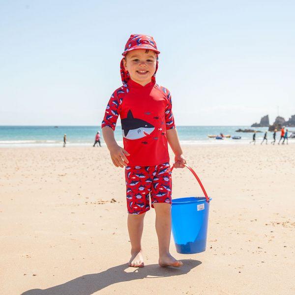 Traje de Protección Solar Tiburón Rojo