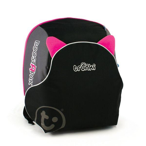 Trunki Boostapak - Asiento alzador de viaje portátil rosa