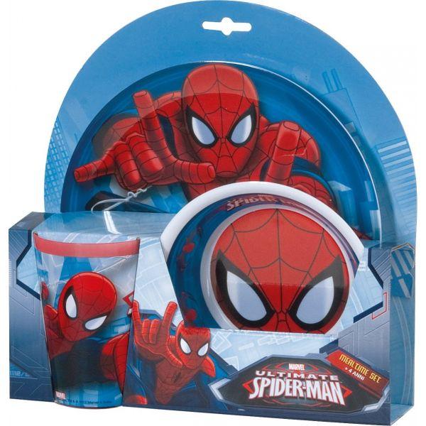 Vajilla Infantil de Melamina Spiderman, 3 piezas