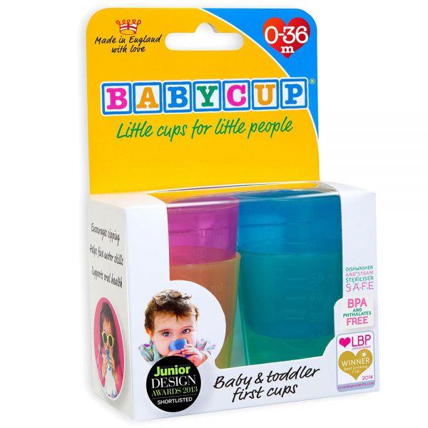 Vasitos Para Beber Leche Materna BabyCup. Lote de 4 unidades