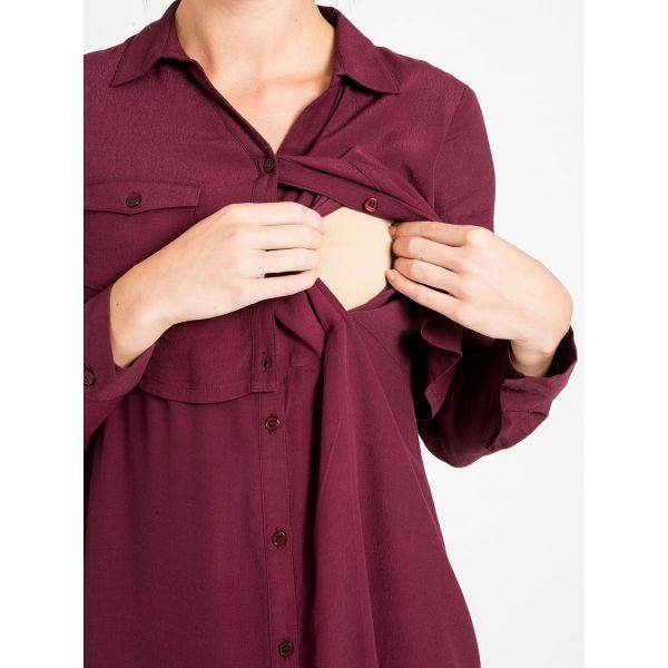 Vestido Camisa Premamá y Lactancia Vino