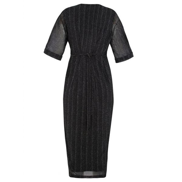 Vestido de Fiesta Premamá y Lactancia Brillante Negro