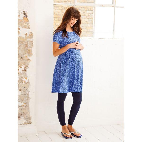 Vestido Premamá y Lactancia Azul