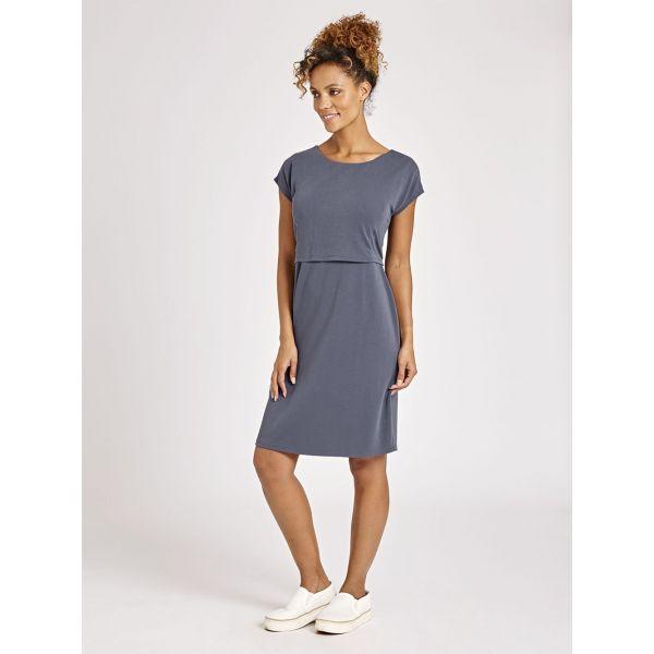 Vestido Premamá y Lactancia Gris