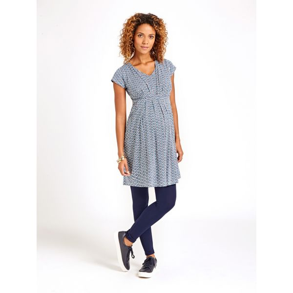 Vestido Premamá y Lactancia Tonos Blue