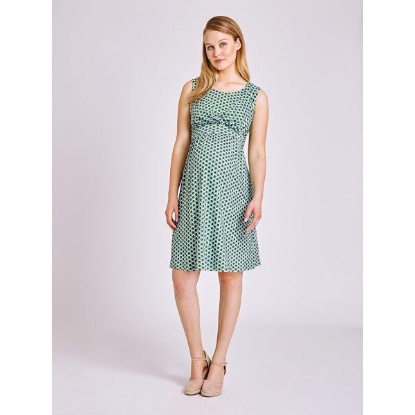 Vestido Premamá y Lactancia Lunares Verdes