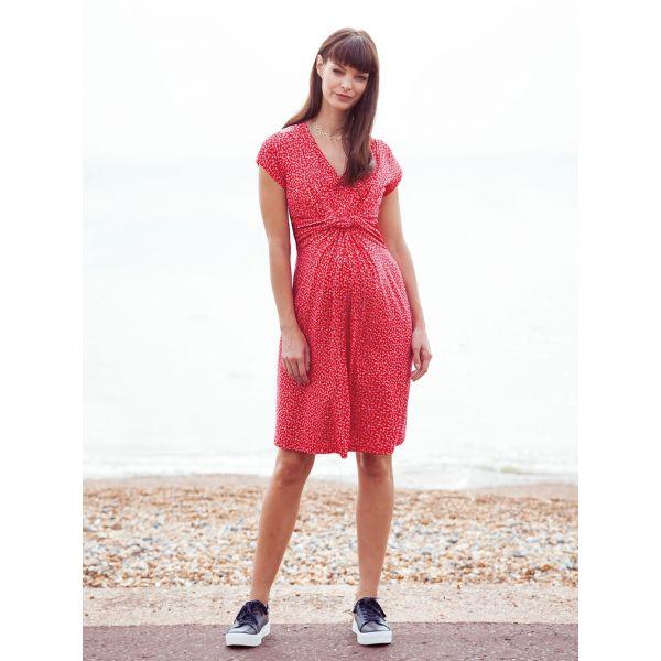 Vestido Premamá y Lactancia Rojo