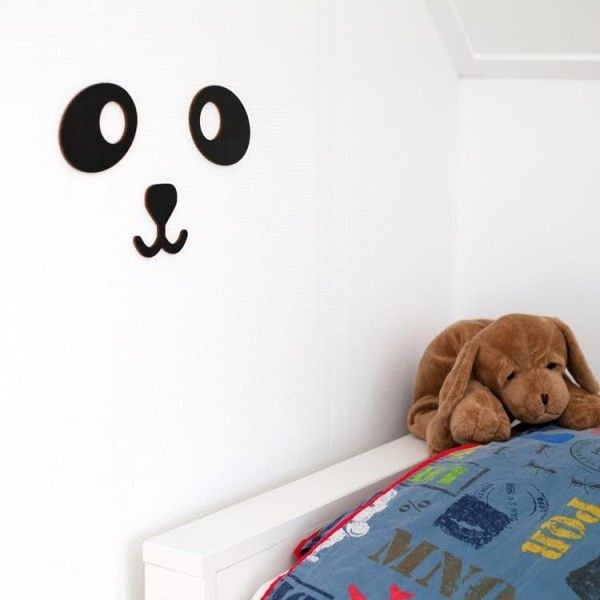 Decoración Pared de Madera Panda