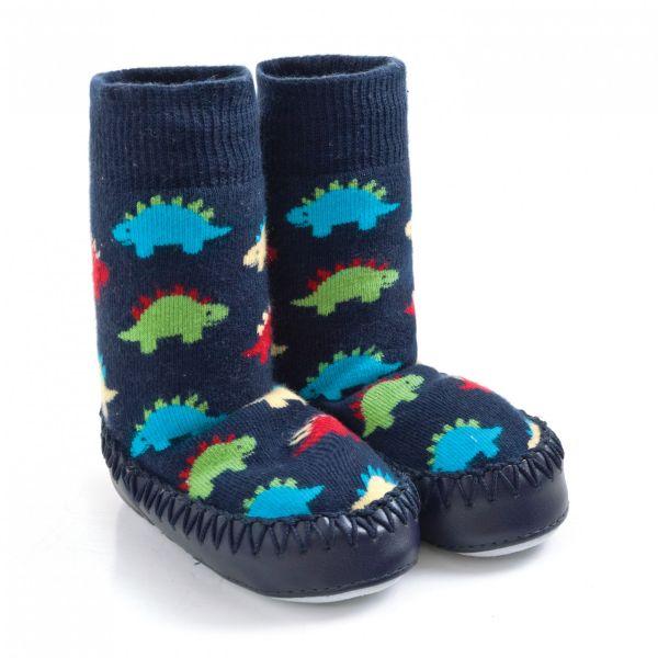 Zapatillas Calcetín Bebé y Niño Dinosaurios