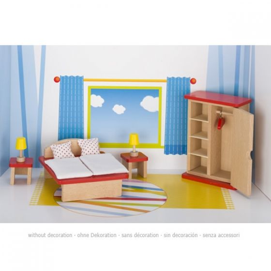 Set de muebles de dormitorio para casa de muñecas, de Goki