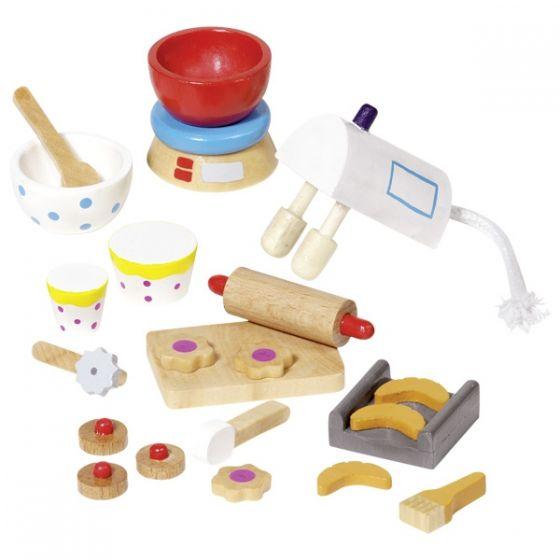 Accesorios de pastelería para casa de muñecas, de Goki